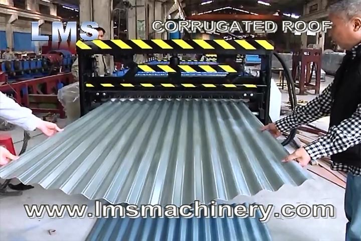 LMS CORRUGATED SHEET ROOF ROLL FORMING MACHINE