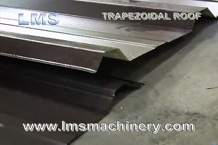 LMS TRAPEZOIDAL ROOF ROLL FORMING MACHINE