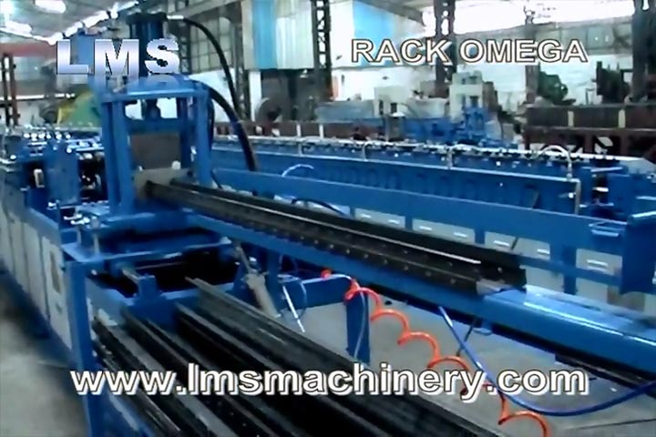 LMS SELECTIVE RACK OMEGA SECTION ROLL FORMING MACHINE